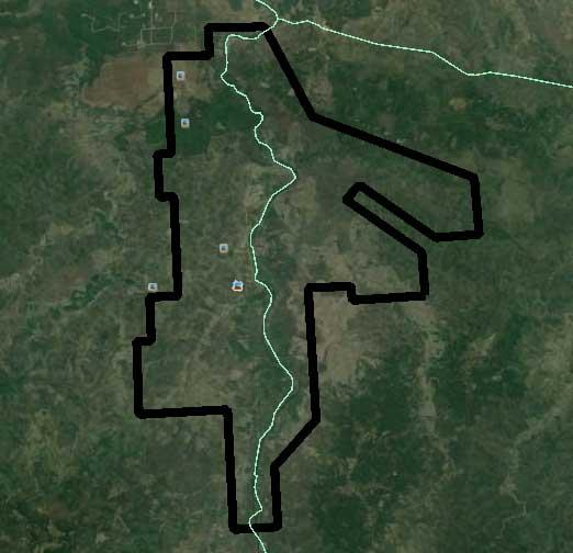 batas AOI lahan survey dan pemetaan