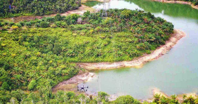 survey drone lidar power line