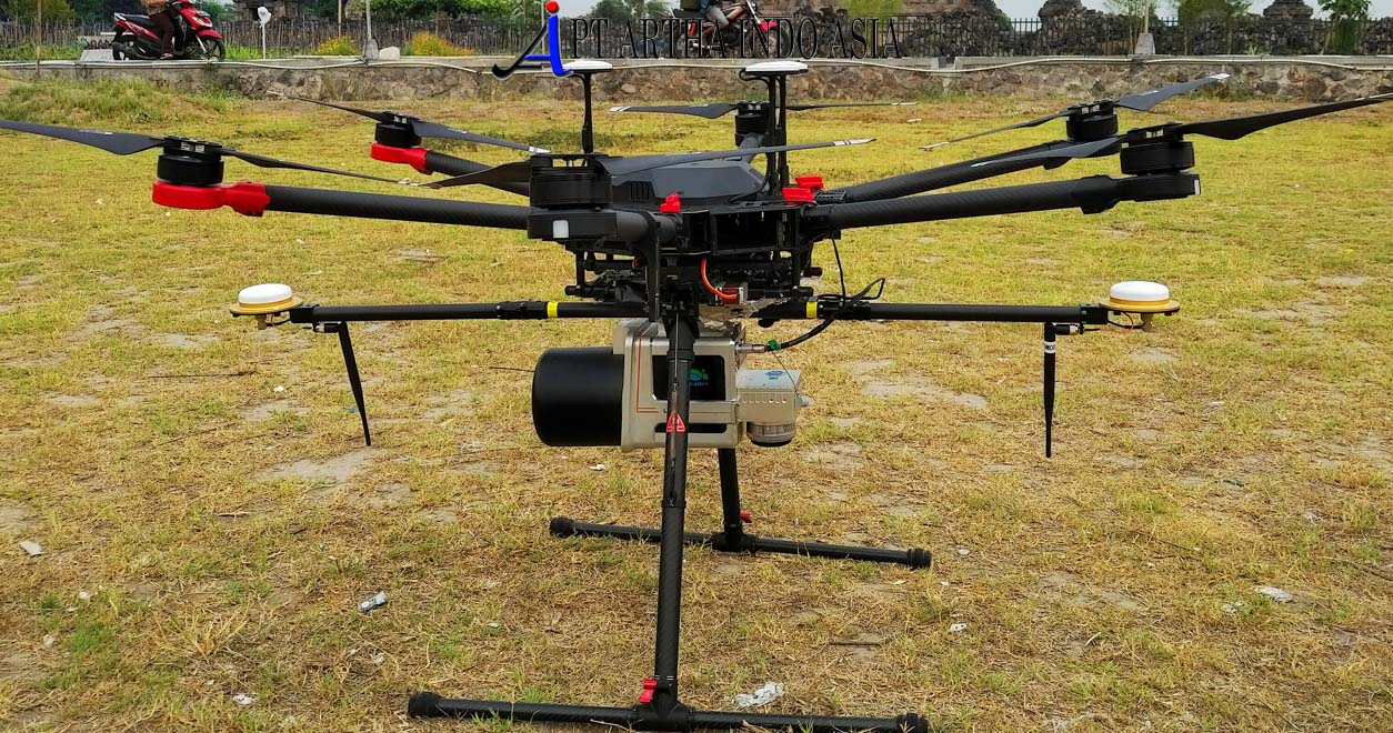 drone lidar M600 untuk survey topografi