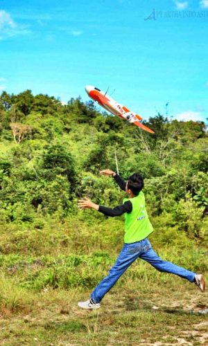 take off survey topografi lahan perkebunan